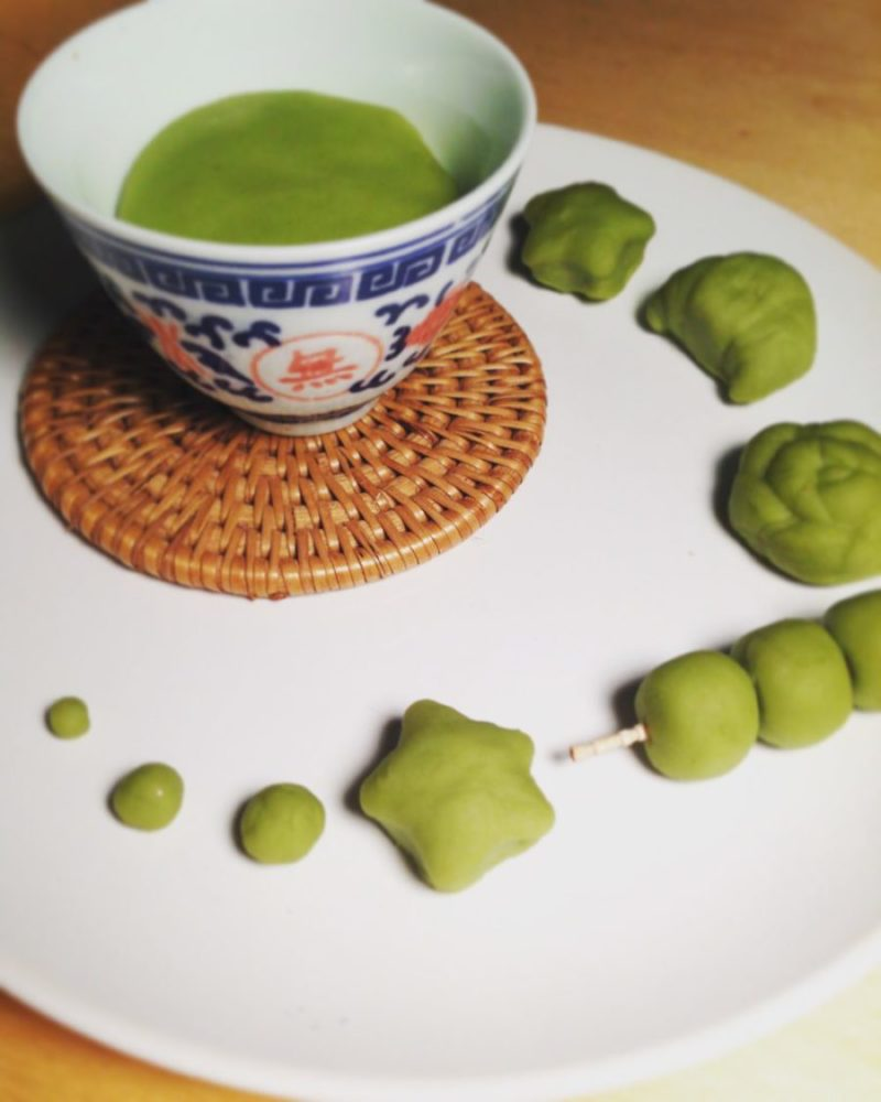 matcha play dough